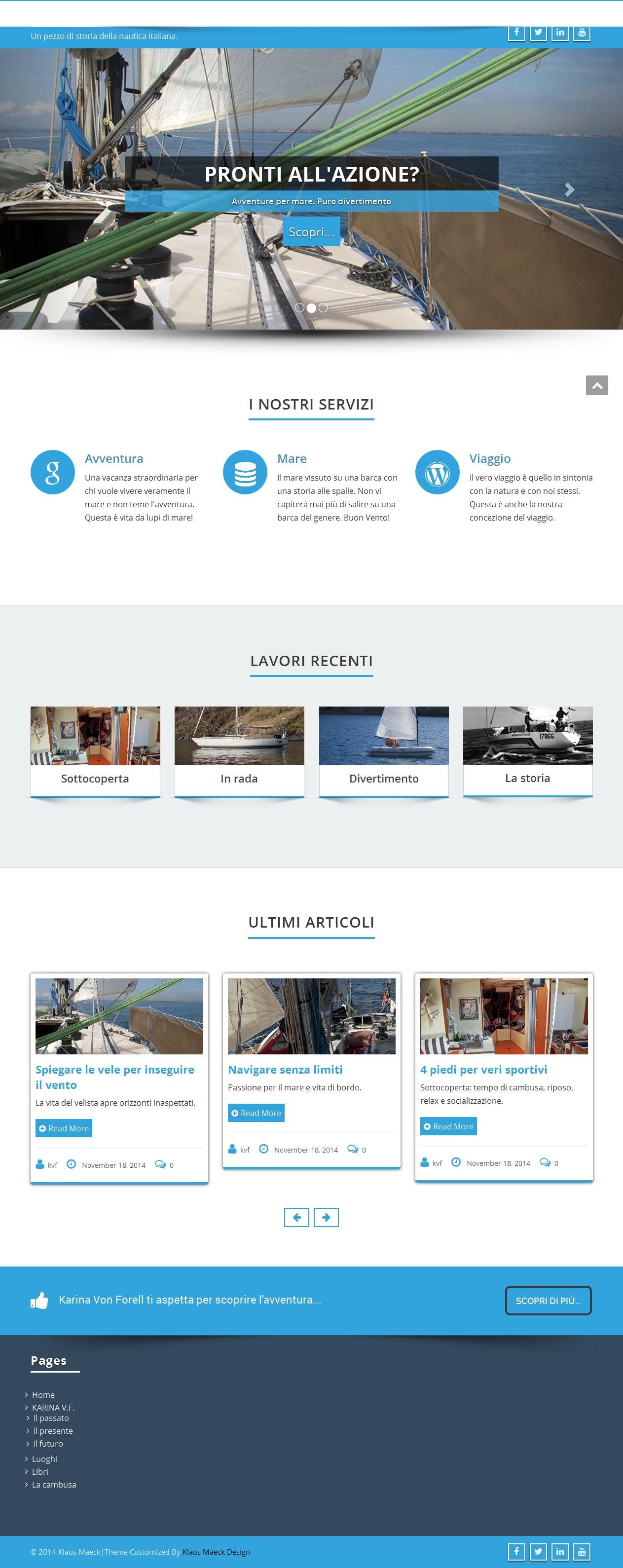 Siti web responsivi - Karina Von Forell - Homepage