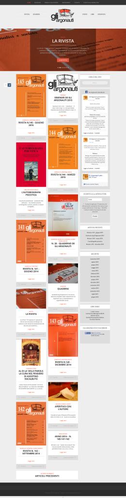 """Assistenza sito web - homepage de """"Gli Argonauti"""""""