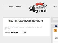 """Assistenza sito web - area privata de """"Gli Argonauti"""""""